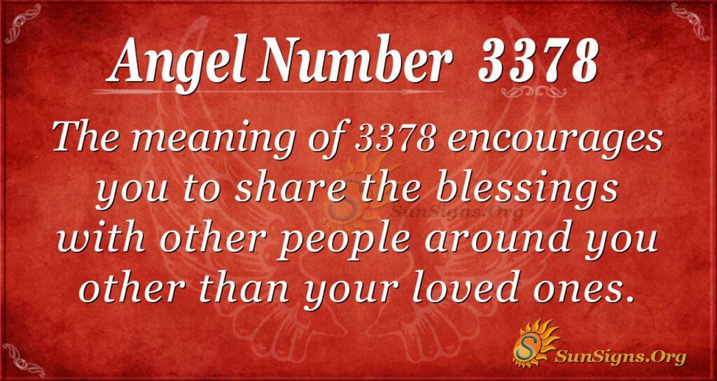 Angel Number 3378