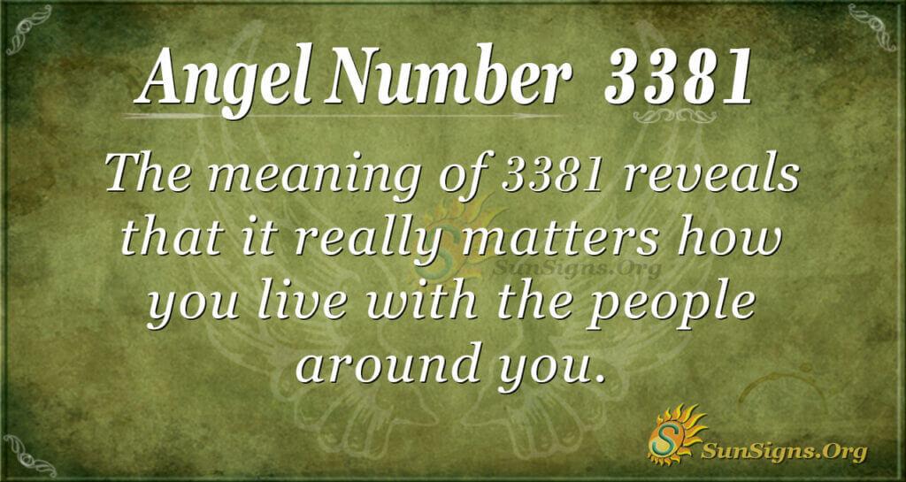Angel Number 3381