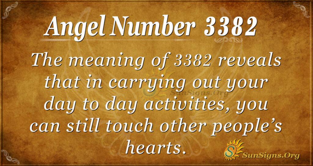 Angel Number 3382