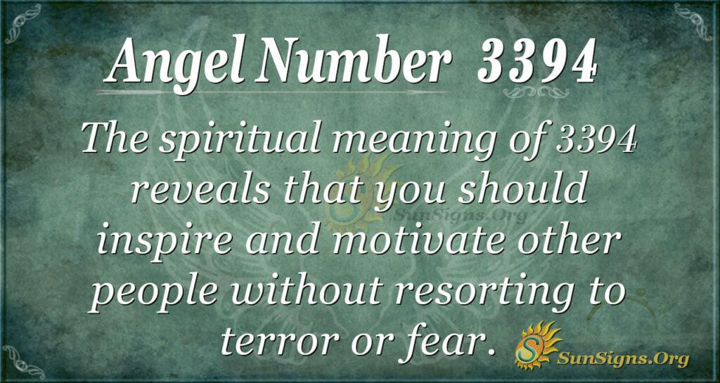 Angel Number 3394