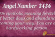 3436 angel number