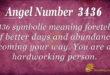3436 angel number
