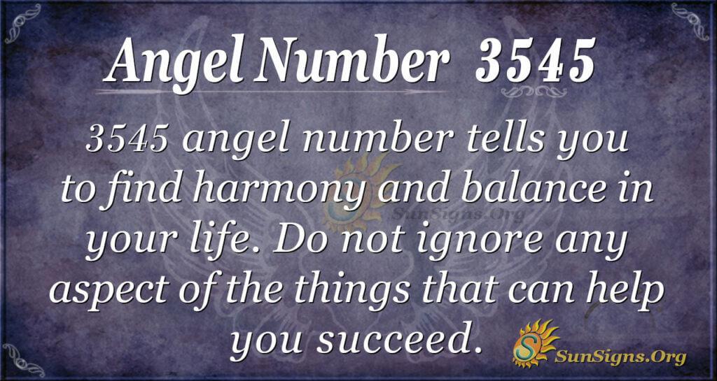 3545 angel number