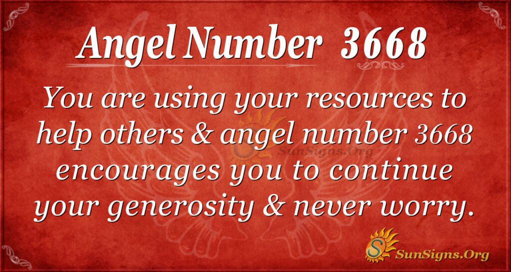 3668 angel number
