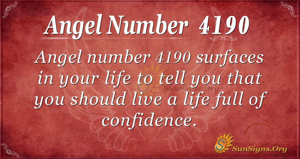 4190 angel number