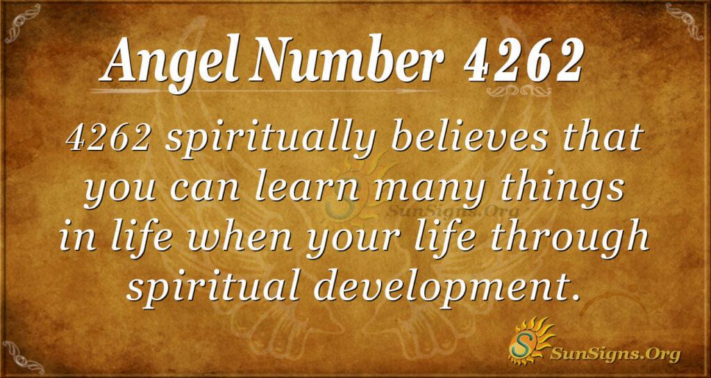 4262 angel number