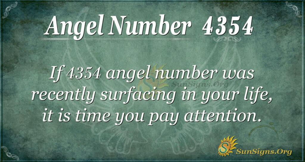 4354 angel number