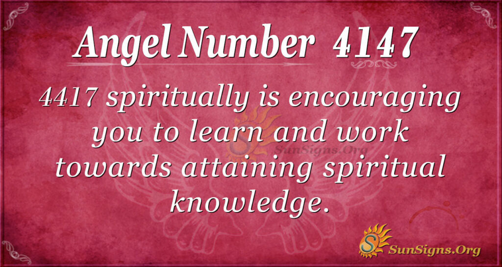 Angel Number 4417