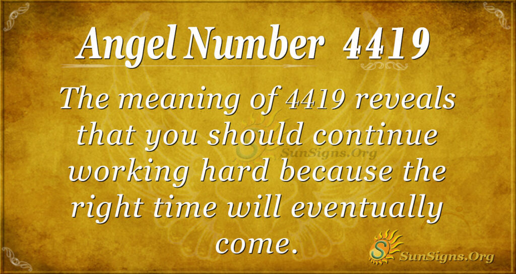 Angel Number 4419