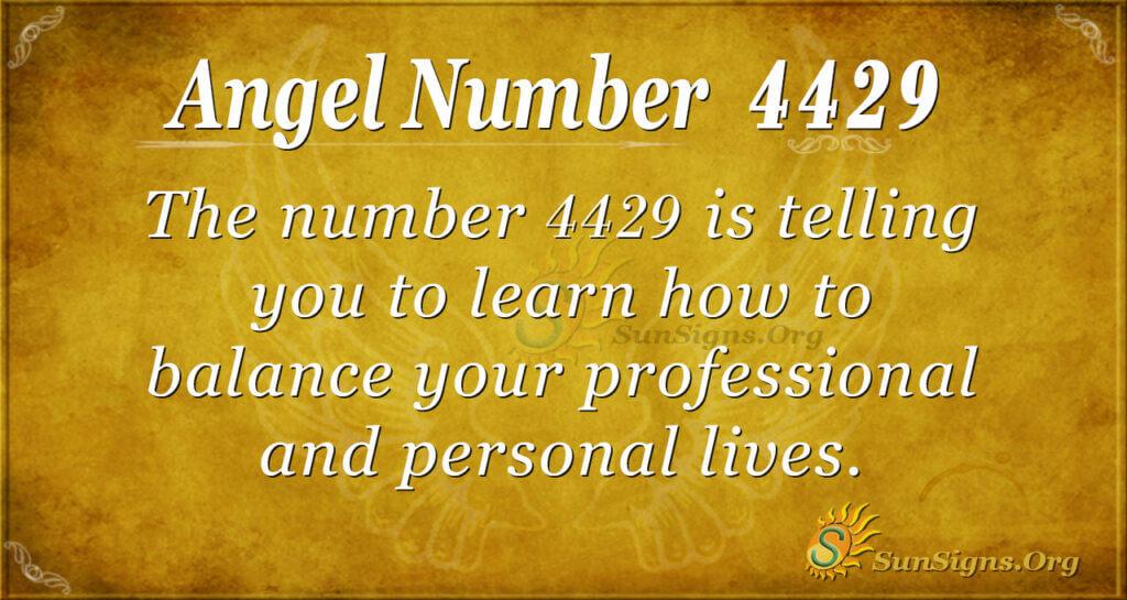 Angel Number 4429