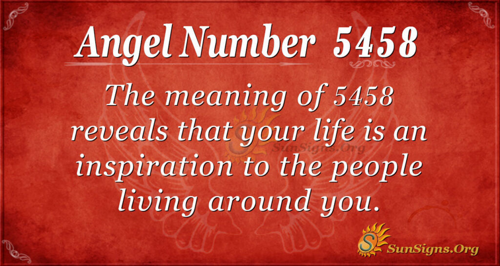 5458 angel number