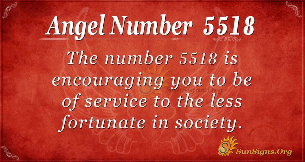 5518 angel number