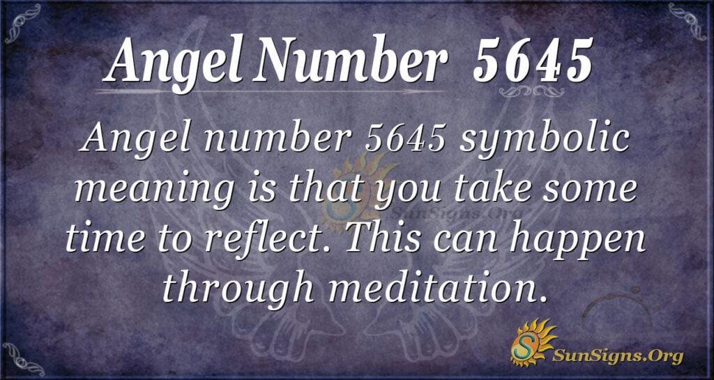 5645 angel number