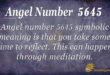 5645 angel number