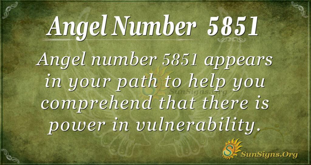 5851 angel number