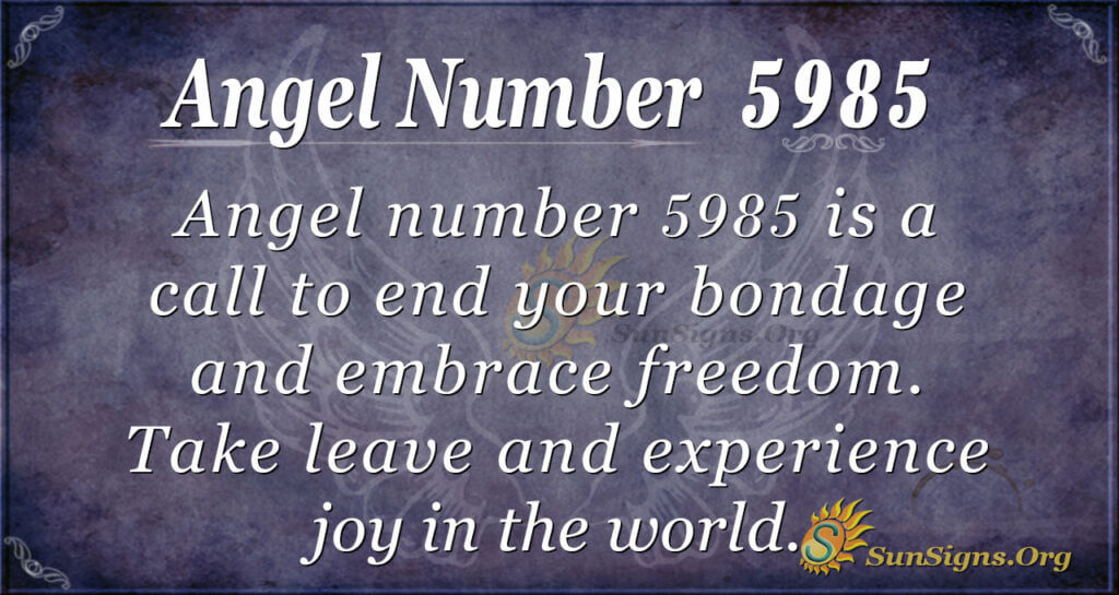 5985 angel number