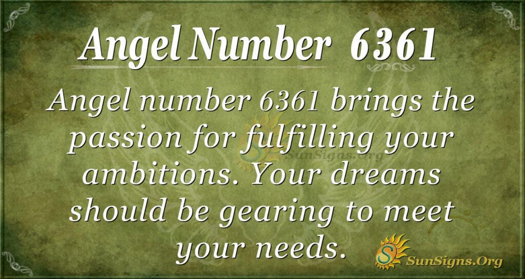 Angel Number 6361