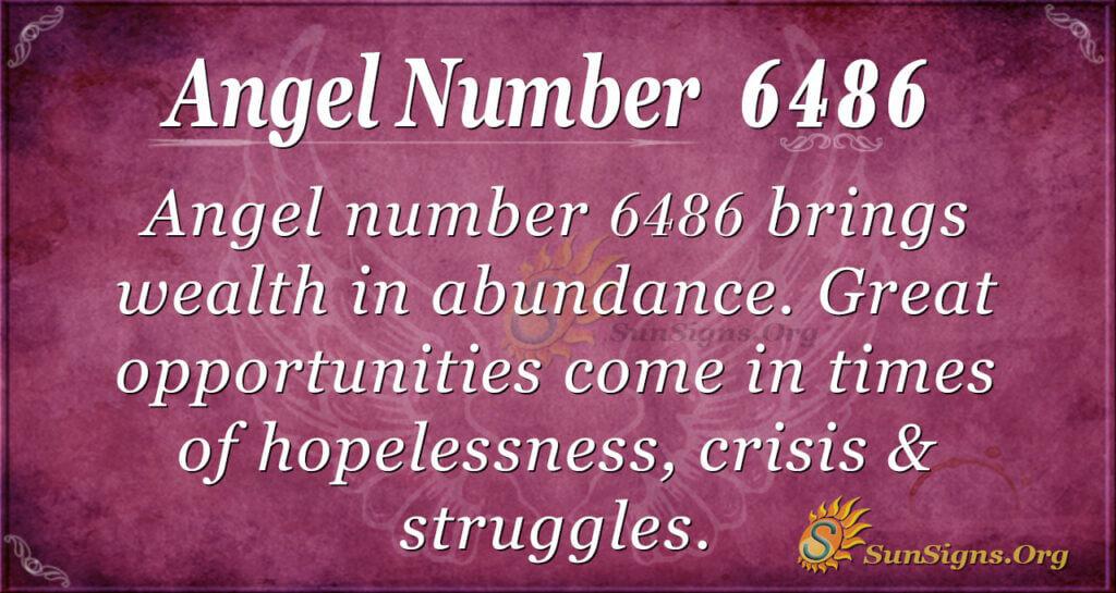 Angel Number 6486