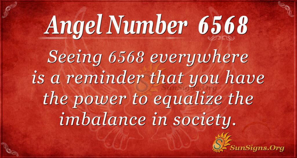 Angel Number 6568