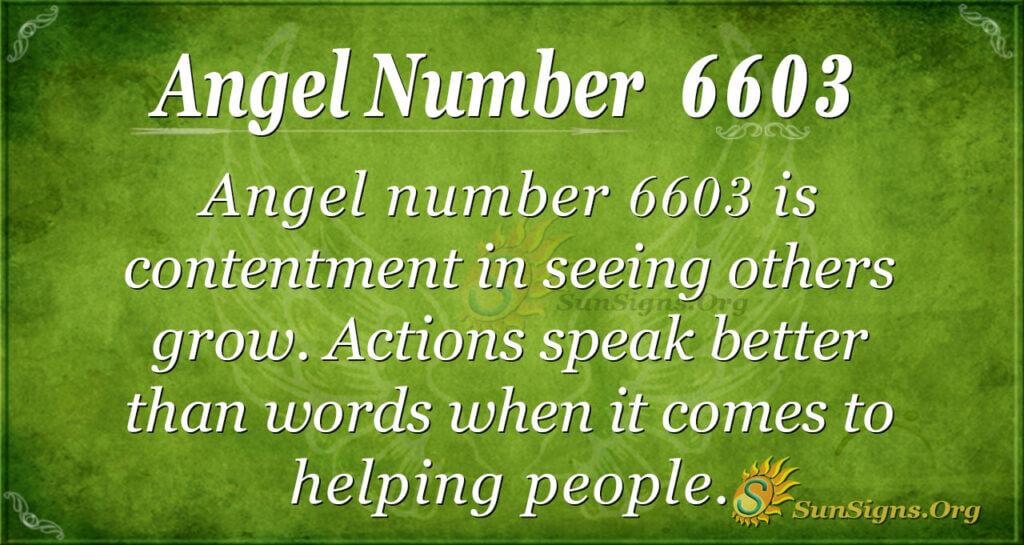 Angel Number 6603