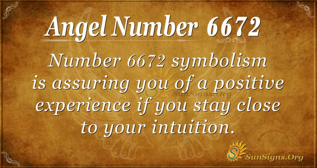 Angel Number 6672