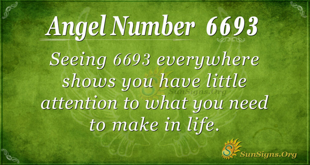 Angel Number 6693