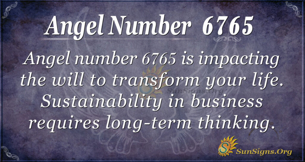 Angel Number 6765