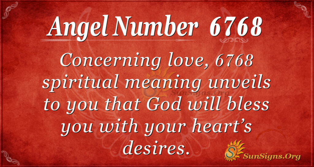 6768 angel number