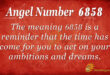 6858 angel number
