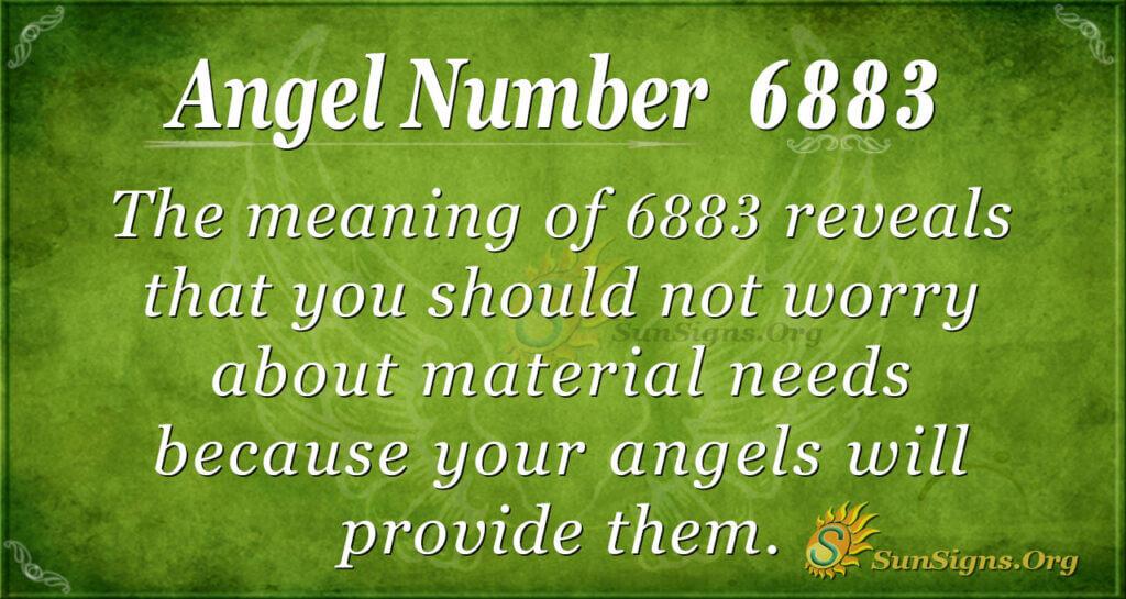 Angel Number 6883