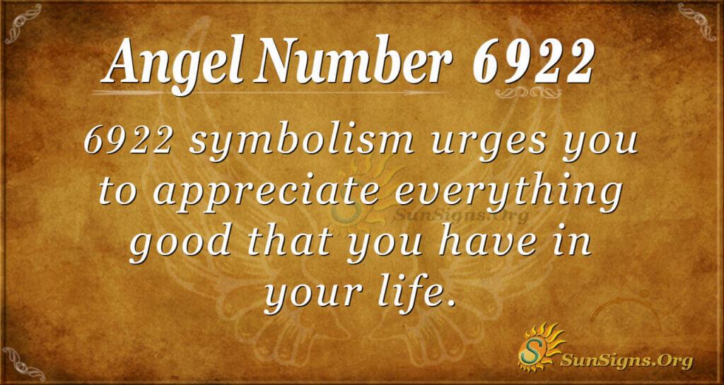 Angel Number 6922