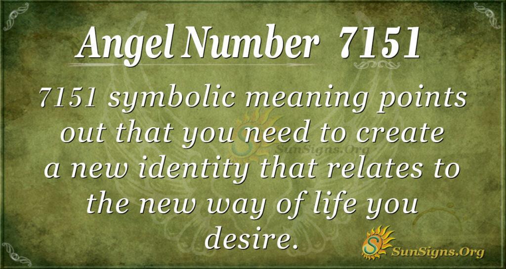 7151 angel number