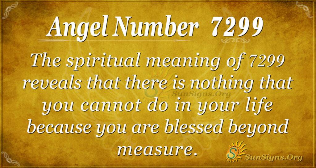 7299 angel number