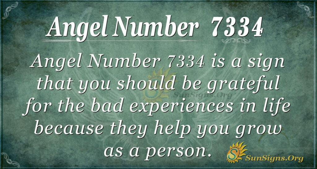 7334 angel number
