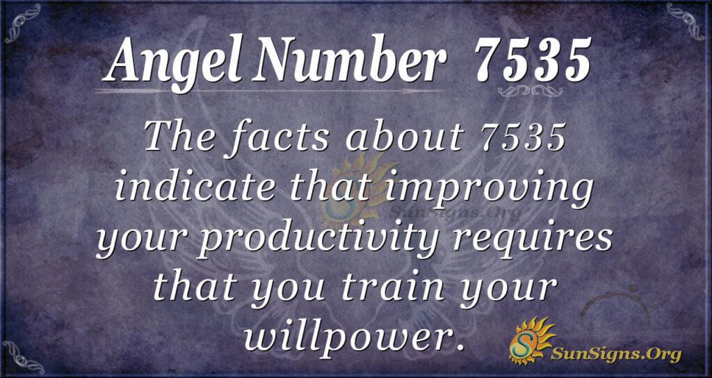Angel Number 7535