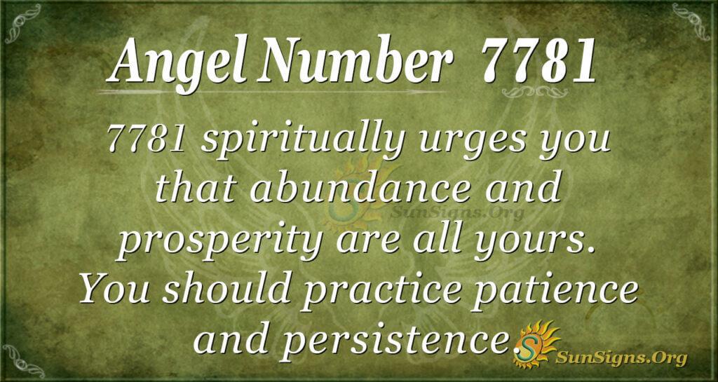 7781 angel number