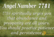 7781 angel number
