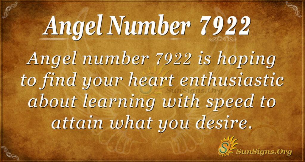 Angel Number 7922