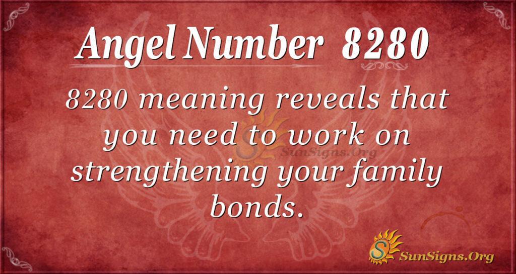 Angel Number 8280