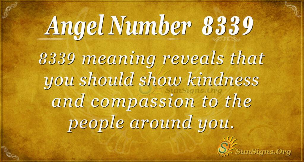 Angel Number 8339
