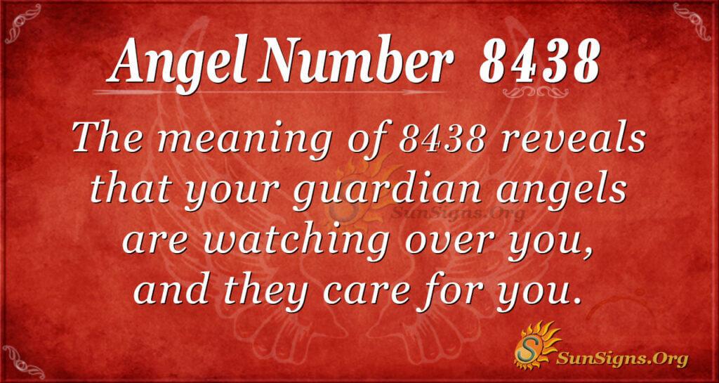 Angel Number 8438