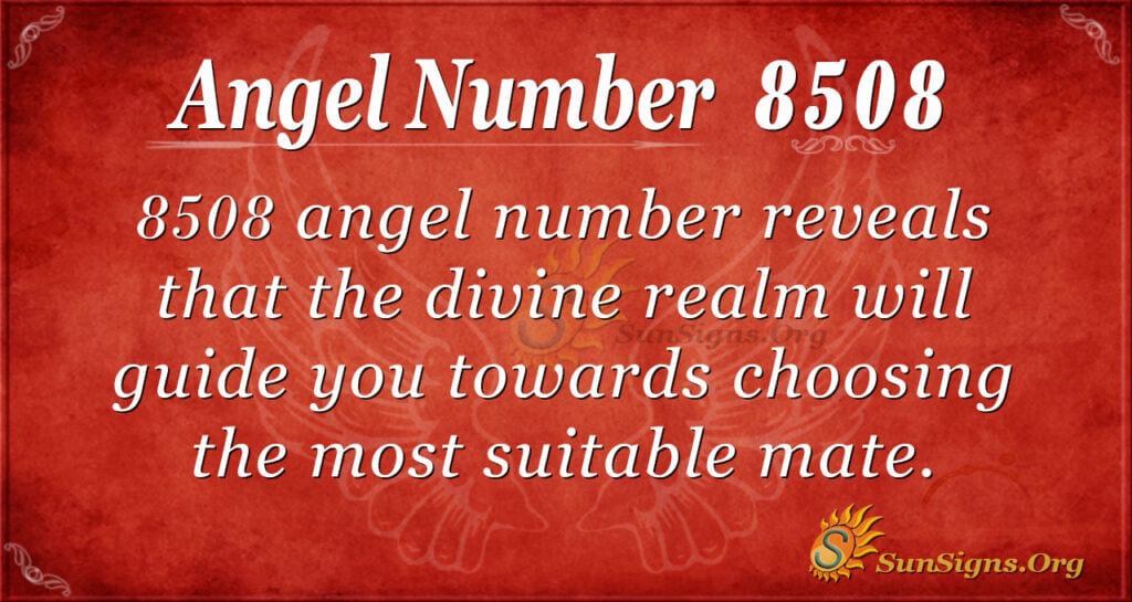 Angel Number 8508
