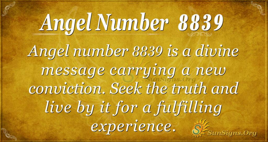 Angel Number 8839