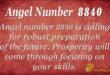Angel Number 8840