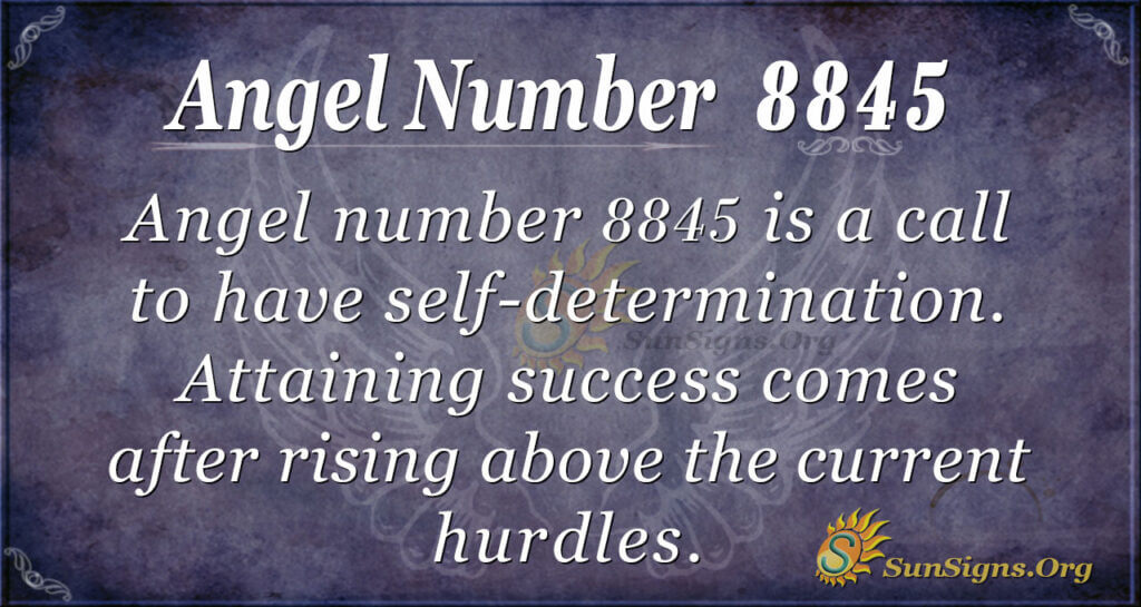 Angel Number 8845