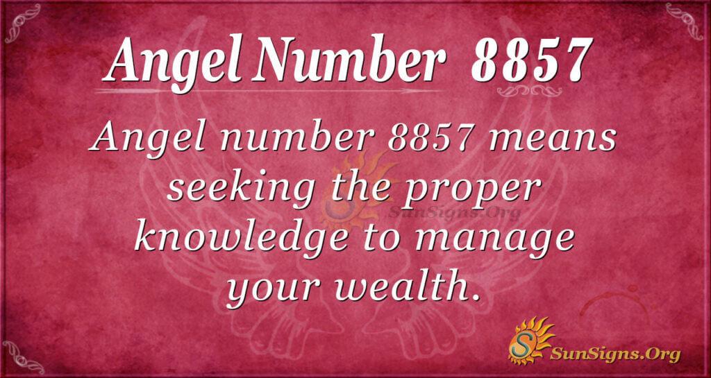 Angel Number 8857