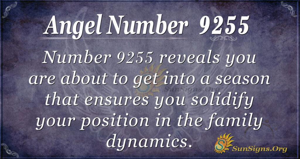 Angel number 9255