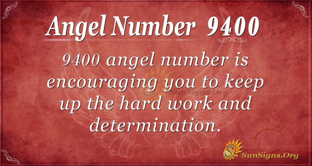Angel Number 9400