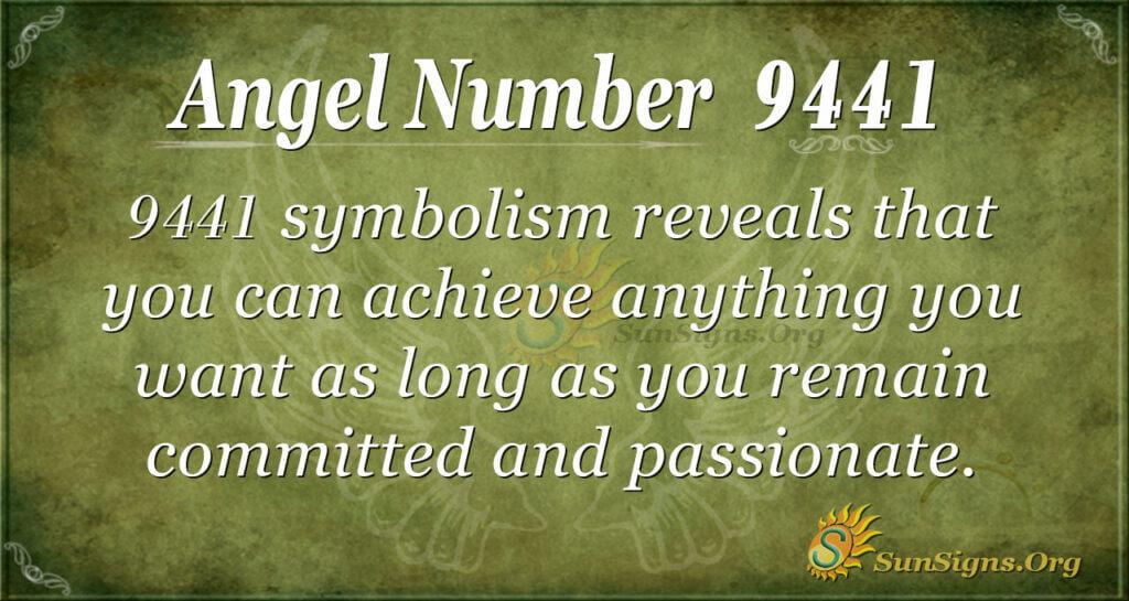 Angel Number 9441