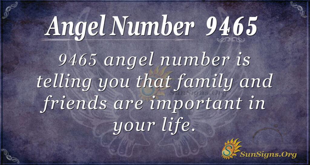 Angel Number 9465
